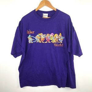 VTG Walt Disney World Purple Seven Dwarfs T-Shirt